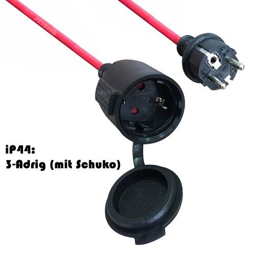 10m Verlängerungskabel Aussen Strom Kabel iP44 H05RR-F 3x1,5 mm + ...