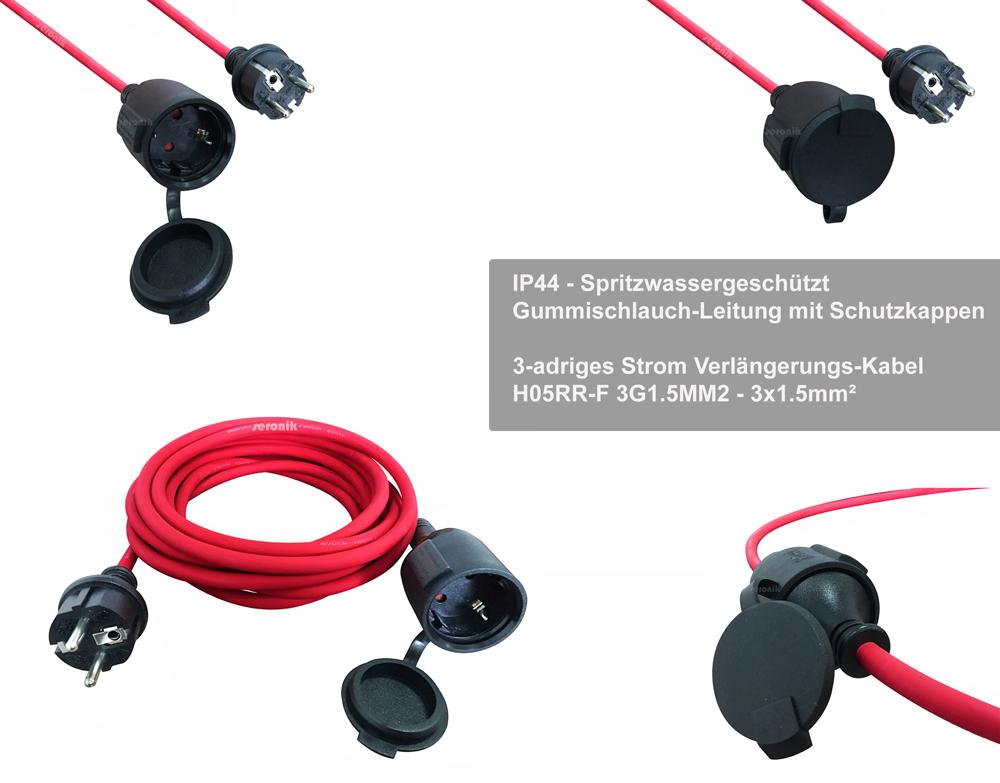 Verlängerungskabel Strom Kabel Verlängerung Feuchtraum IP44 H05RR-F ...
